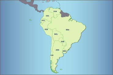 Zone Zuid Amerika
