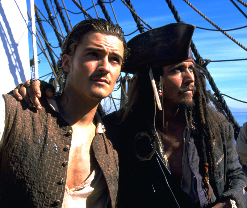 johnny depp pirate. Orlando and Johnny Depp