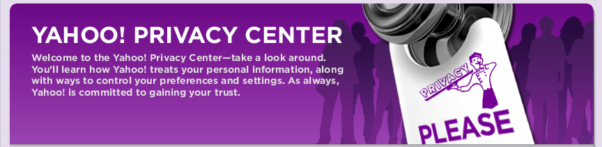 Yahoo! Privacy Center Image