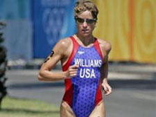 Williams on her way to a medal.