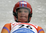 'Grandma Luge' ends her career with a partial victory.