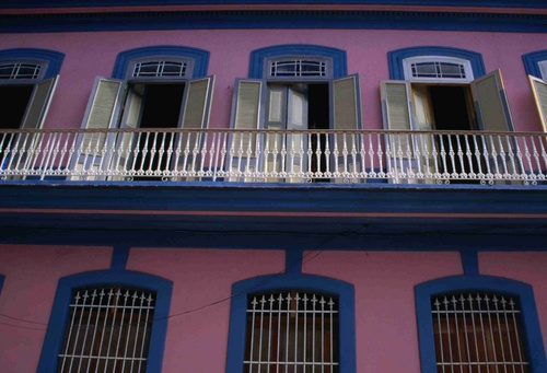 Shuttered windows in colonial Havana