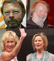 The four members of ABBA