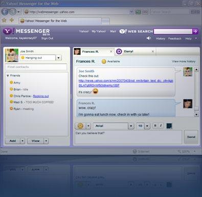 Ekran Görüntüsü Yahoo Messenger
