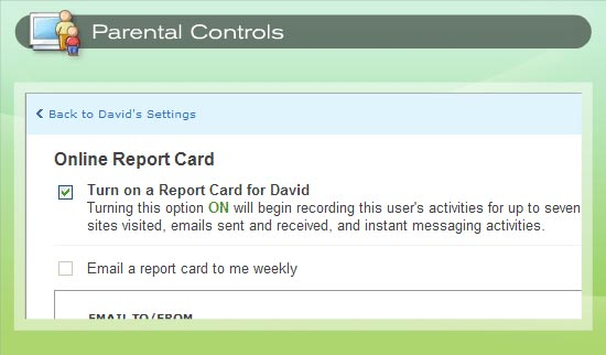 Online report cards give you detailed information about your child's online activities.