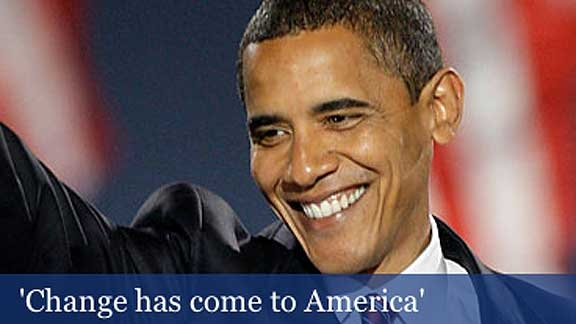 Barack Obama Wins Presidential Election @ Yahoo! Video