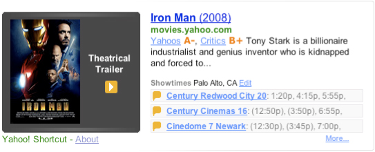 Yahoo! Shortcut - Iron Man