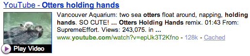 Yahoo! Shortcut - Otters Holding Hands