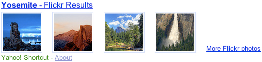 Yahoo! Shortcut - Yosemite photo