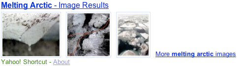 Yahoo! Shortcut - Melting Arctic photo
