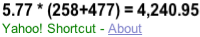 Yahoo! Shortcut - 5.77 * (258+477)