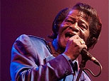 US singer James Brown performs on stage in Prague in November 2006(AFP)