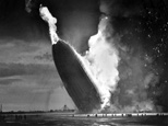 The German dirigible Hindenburg crashes to the ground, tail first, in flaming ruins after exploding on May 6, 1937, at the U.S. Naval Station in Lakehurst, N.J. (AP)