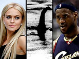 Lindsay Lohan, alleged image of the Loch Ness Monster, Lebron James (AP)
