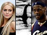 Lindsay Lohan, alleged image of the Loch Ness Monster, Lebron James (AP)