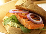 Blackened salmon sandwich (EatingWell.com)
