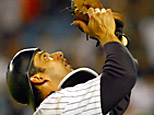 Yankees catcher Jorge Posada (Photo by Al Bello/Getty Images)