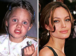 Angelina Jolie, then ('THE 9')and now (Getty Images)