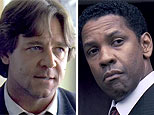 Denzel Washington and Russell Crowe in Universal Pictures' American Gangster