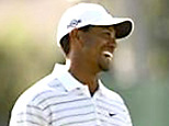 Tiger Woods laughs during practice round for the 2007 U.S. Open (Brian Snyder/Reuters)