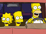 Lisa (voiced by Yeardley Smith), Bart (voiced by Nancy Cartwright), and Homer (voiced by Dan Castellaneta) in 20th Century Fox's 'The Simpsons Movie'