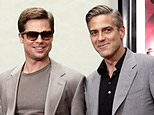 Brad Pitt and George Clooney (AFP/File/Gabriel Bouys)