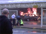 The scene at Glasgow Airport in this image from video Saturday, June 30, 2007. (AP)
