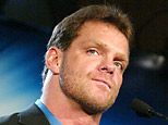 Wrestler Chris Benoit attends a press conference to promote Wrestlemania. (Photo by Peter Kramer/Getty Images)