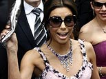 Eva Longoria, a star on the U.S. television series 'Desperate Housewives,' and NBA star Tony Parker are in France for their wedding this weekend, with a reception planned at a historic chateau outside Paris. (AP Photo/ Damien Lafargue)