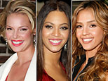 (L-R) Katherine Heigl (Jim Spellman/WireImage); Beyonce Knowles (D. Venturelli/WireImage); Jessica Alba (Jeff Vespa/WireImage)