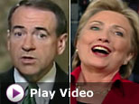 Hillary Clinton and Mike Huckabee (ABC News)