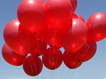 Red balloons (Getty Images)