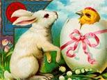 Vintage Easter greeting card detail. (Corbis)