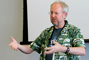 Douglas Crockford delivers the keynote at the 2007 Konfabulator Developer Day.