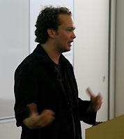 Oddpost cofounder Iain Lamb speaks at Yahoo!'s Open Hack Day.