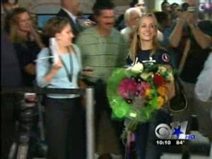 Gold Medalist Nastia Liukin Arrives Home