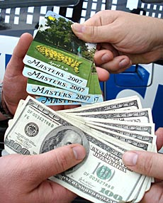 Augusta National officials refuse to reveal the amount of ticket supply.